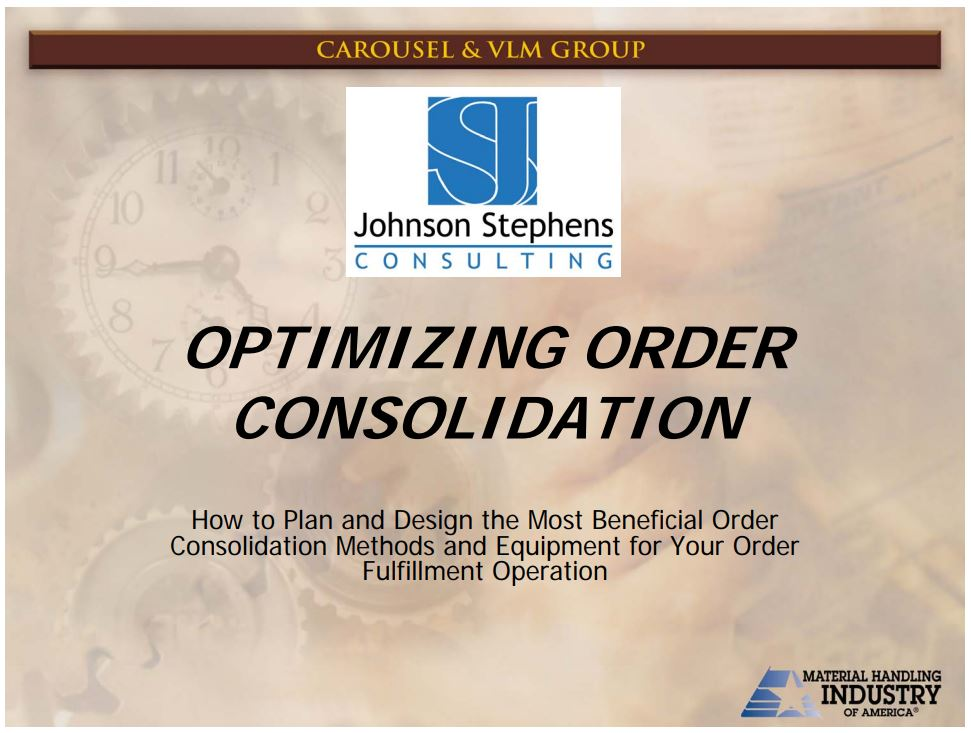 Optimizing Order Consolidation